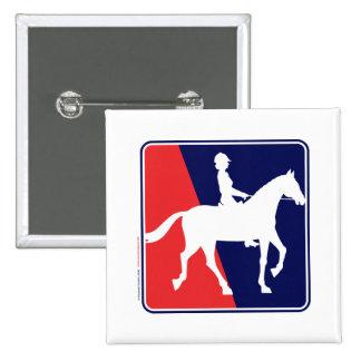 RWB-HORSE-RIDER 2 INCH SQUARE BUTTON