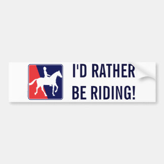 RWB-HORSE-RIDER BUMPER STICKERS
