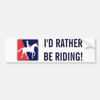RWB-HORSE-RIDER PEGATINA DE PARACHOQUE