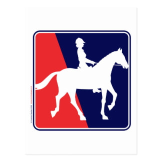 RWB-HORSE-RIDER POSTCARD