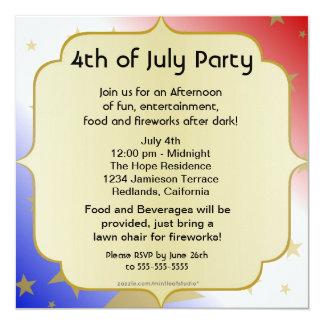 RWB metálico 4to de la invitación del fiesta de
