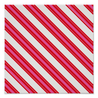 RWCCS RED WHITE CANDYCANE STRIPES BACKGROUNDS PATT POSTER