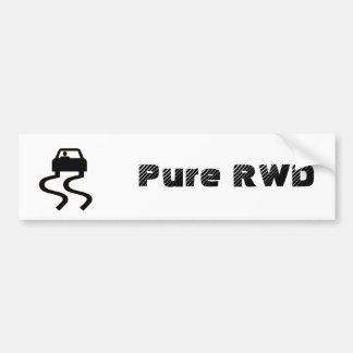 RWD puro Etiqueta De Parachoque