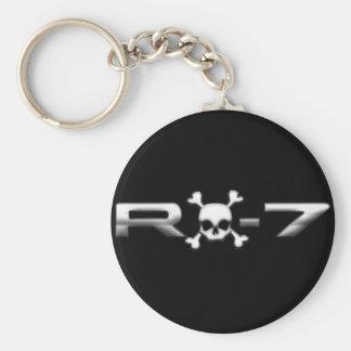 RX7 con un cráneo Llaveros Personalizados