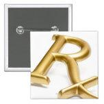 Rx drug sign 2 inch square button