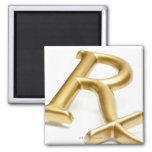 Rx drug sign 2 inch square magnet