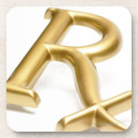 Rx drug sign drink coaster