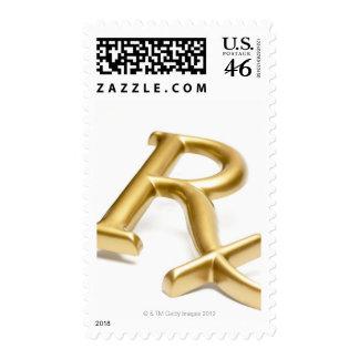 Rx drug sign postage stamp