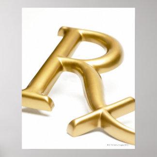 Rx drug sign poster
