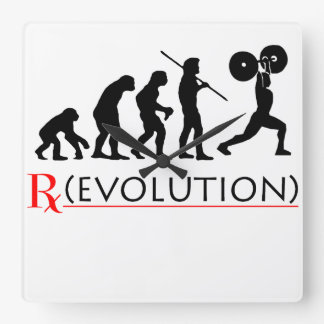 "RX - Evolution Chart ""Elite Fitness"" Wall Clock"