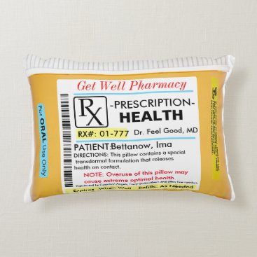 rxmugs RX for Health Get Well Pillow