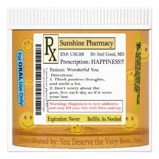 RX Funny Happiness Prescription Announcements