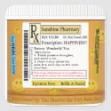 RX Funny Happiness Prescription Square Sticker (<em>$5.25</em>)