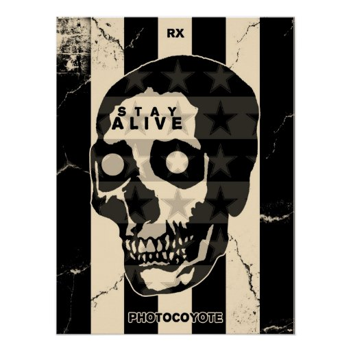 Rx & Photocoyote STAY ALIVE Poster