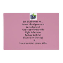 Rx Placemats- Blueberries Placemat