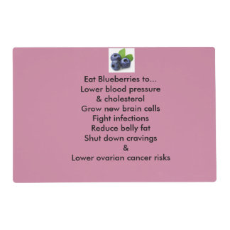 Rx Placemats- Blueberries Placemat