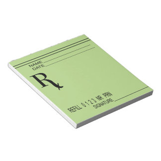 Rx Prescription Pad - Write Your Own Prescription!
