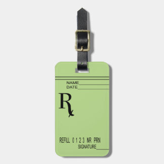 Rx Prescription Pad - Write Your Own Prescription! Bag Tag