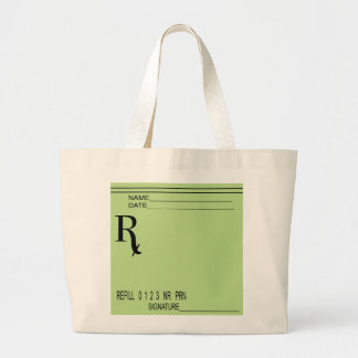Rx Prescription Pad - Write Your Own Prescription! Large Tote Bag