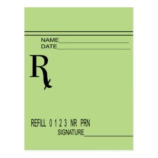 Rx Prescription Pad - Write Your Own Prescription! Postcard