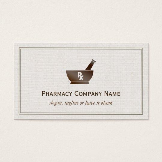 Rx symbol pharmacy chemist company classic linen business card rx symbol pharmacy chemist company classic linen business card reheart Gallery