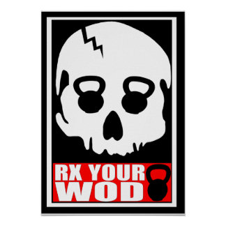 RX Your WOD - Kettlebell Skull Poster