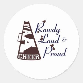 RYAA Cheer Classic Round Sticker