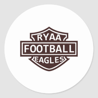 RYAA Football Classic Round Sticker