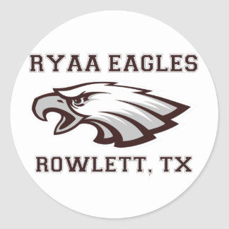 RYAA Logo Gear Classic Round Sticker