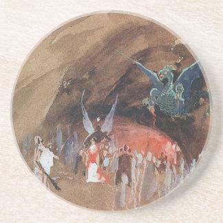 Ryabushkin Dragons Cave Sandstone Coaster