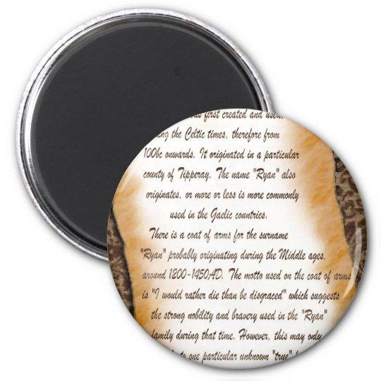 ryan 2 inch round magnet