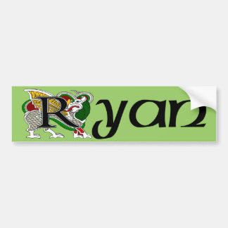 Ryan Celtic Dragon Bumper Sticker