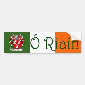 Ryan Clan Irish/English Flag Bumper Sticker