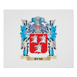 Ryan Coat of Arms - Family Crest Posters