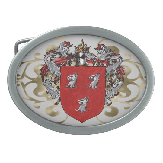 Ryan Coat of Arms Oval Oval Belt Buckle