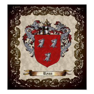 Ryan Coat of Arms Poster