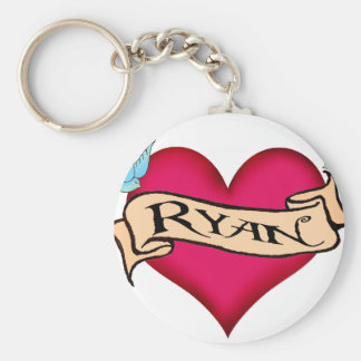 Ryan - Custom Heart Tattoo T-shirts & Gifts Keychains
