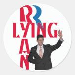 Ryan de mentira etiqueta redonda