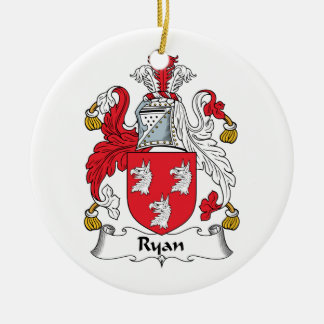 Ryan Family Crest Ceramic Ornament