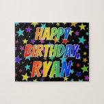 "[ Thumbnail: ""Ryan"" First Name, Fun ""Happy Birthday"" Jigsaw Puzzle ]"