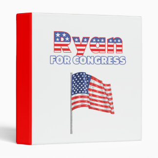 Ryan for Congress Patriotic American Flag Vinyl Binder