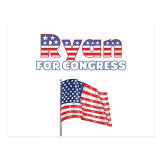 Ryan for Congress Patriotic American Flag Postcard