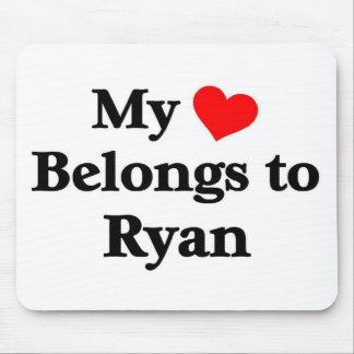Ryan has my heart mouse pad