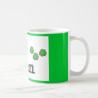 Ryan Irish Classic White Coffee Mug