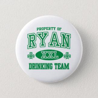 Ryan Irish Drinking Team Button