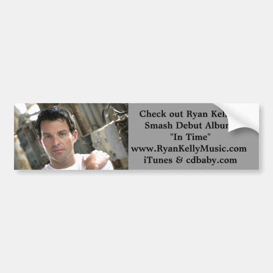 Ryan Kelly Music - Bumper Sticker- White T Bumper Sticker