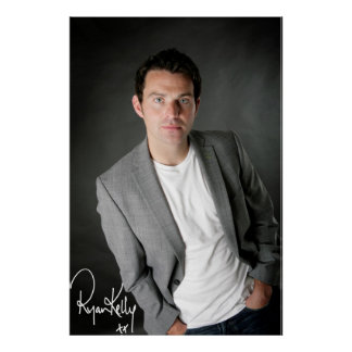"Ryan Kelly Music - Poster- Grey-""Signed"" Poster"