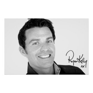 """Ryan Kelly Music - Poster """"Signed"""" - Up Close"""