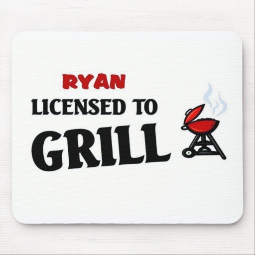 Ryan licensed to grill mouse pad