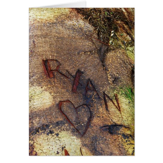 Ryan Love Tree Carving Card
